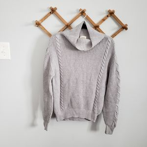 ARITZIA WILFRED FREE Grey Wool Turtleneck Sweater
